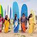 SRI LANKA: WOMEN ATTACKING THE WAVES!