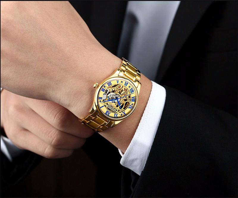 đồng hồ vàng kim xanh