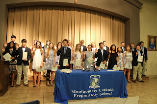 Montgomery Catholic Inducts New NHS Members and Honors Senior Members 1