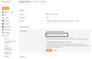 Cara Custom Domain Blogspot di Freenom