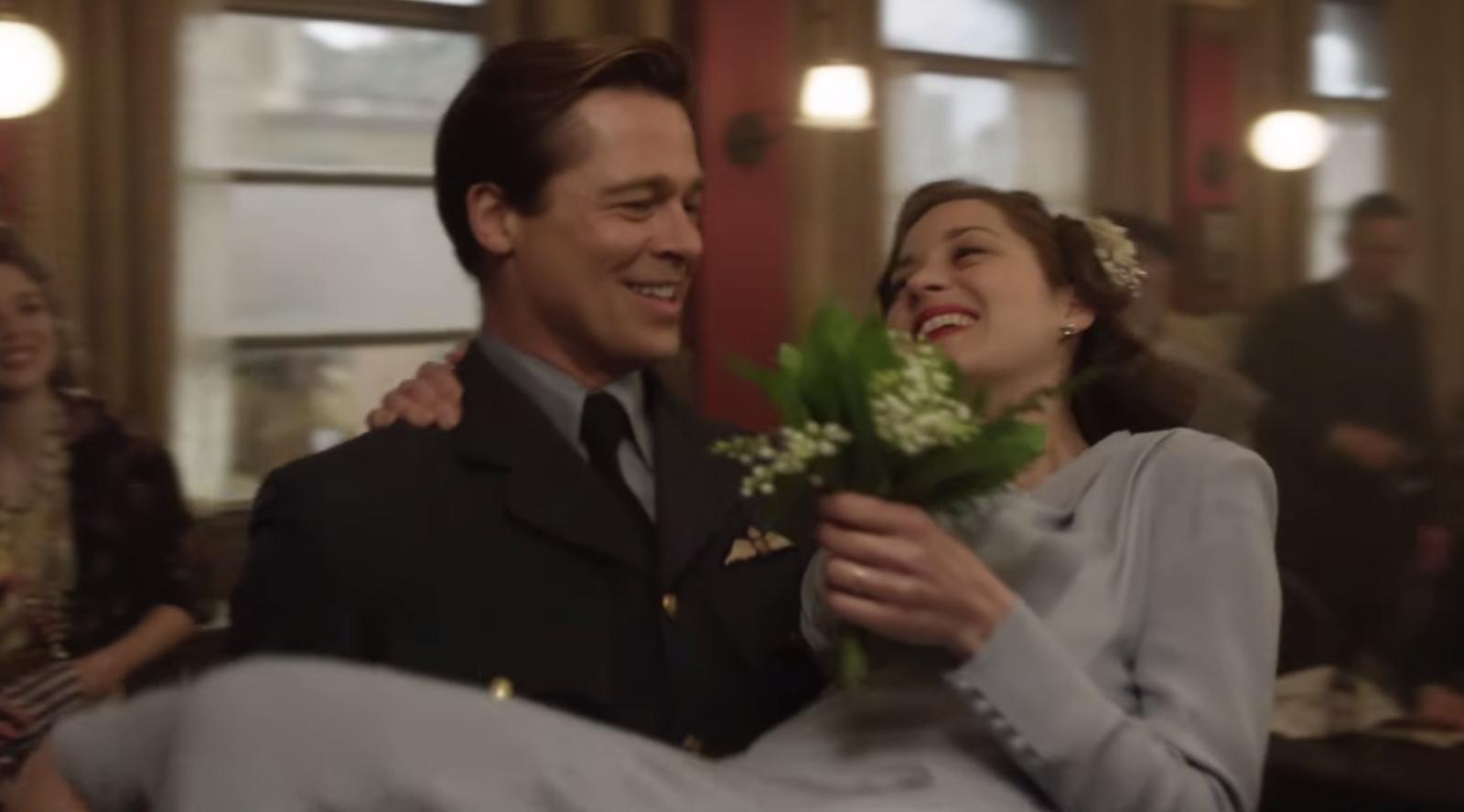 Aliados | Brad Pitt e Marion Cotillard no 2º trailer do drama de guerra