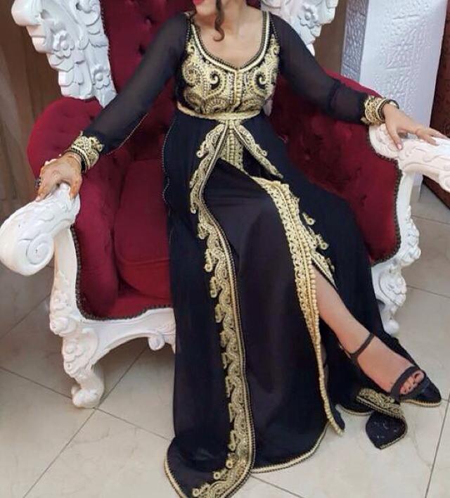 caftan noir haute couture
