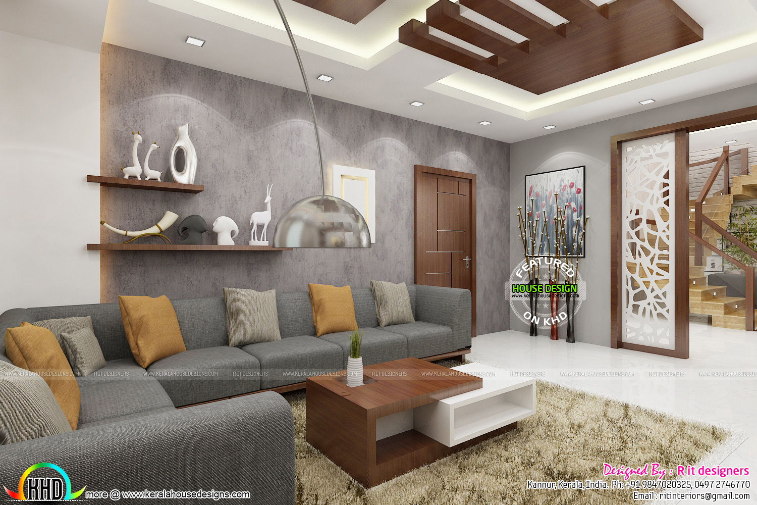 Posh living room interior kerala home design and floor plans - Home and living ...
