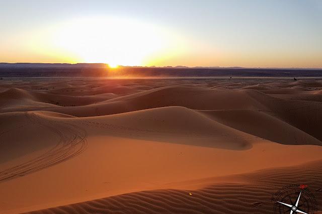 Puesta de sol en las dunas