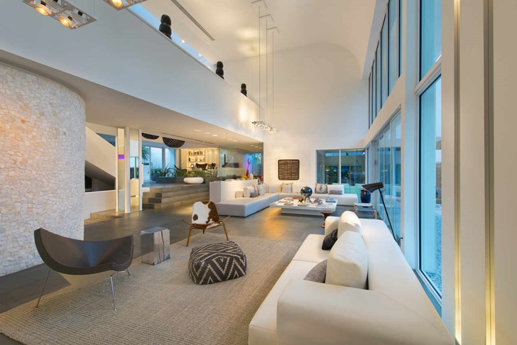 world of architecture modern mansion with amazing lighting florida. Black Bedroom Furniture Sets. Home Design Ideas