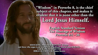 SHOCKING, Proverbs 8, REFUTES Trinity and those who argue Jesus was ONLY an ordinary mortal man WRONG. By Simon Brown.
