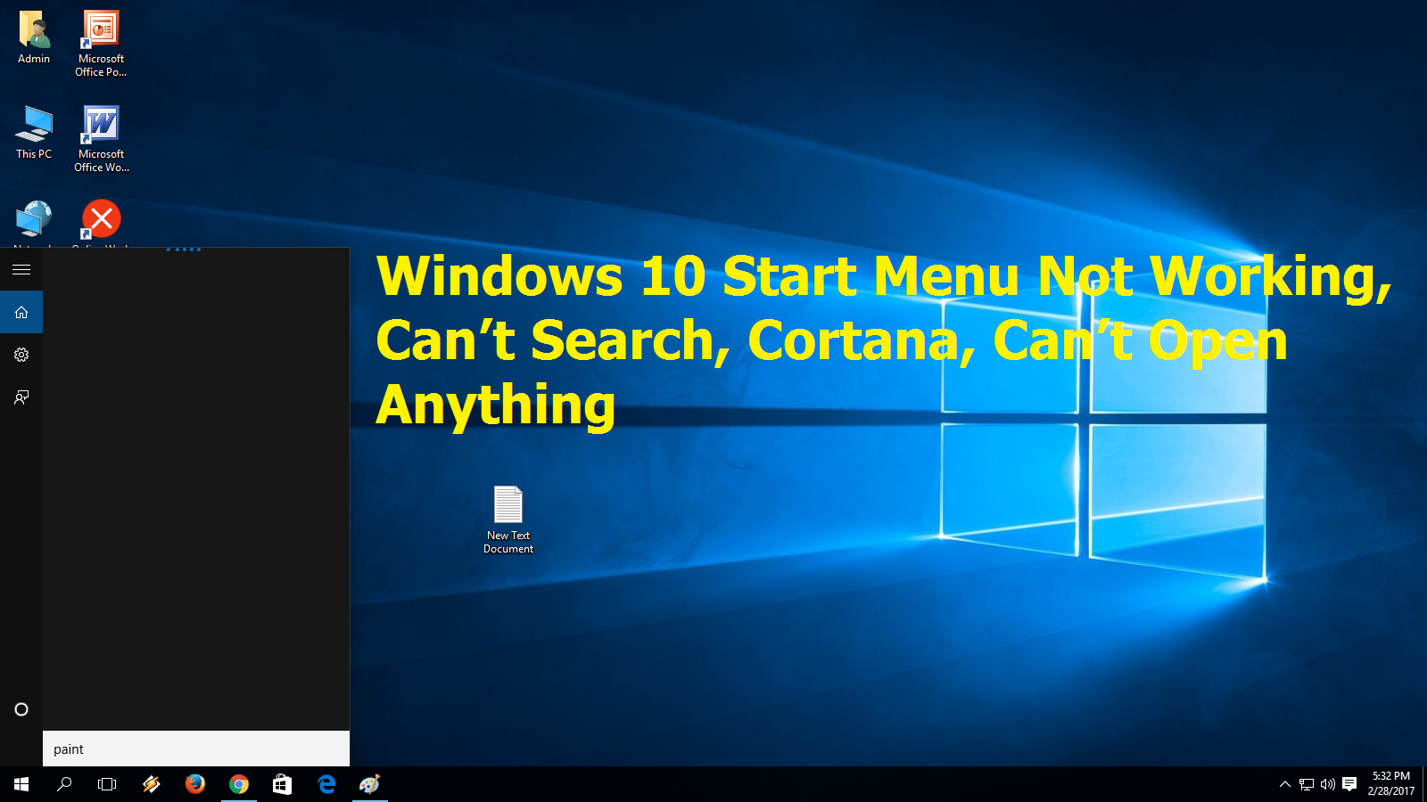Start button search not working in windows 10 - Bitcoin