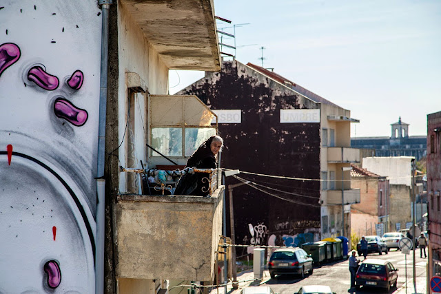 Second Street Art Mural By How Nosm For Underdogs 10 On The Streets Of Lisbon, Portugal 8