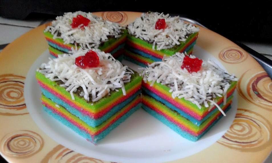 Resep Roll Cake Kukus Ekonomis: Resep Cara Membuat Rainbow Roll Cake Harum Dan Lembut