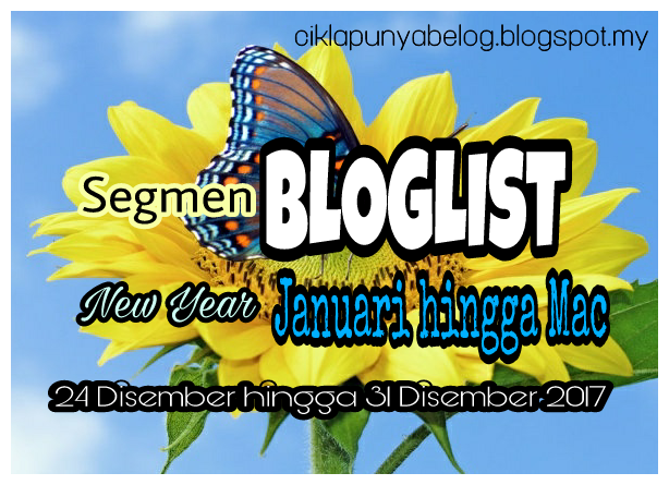 Segmen BLOGLIST New Year Januari hingga Mac.