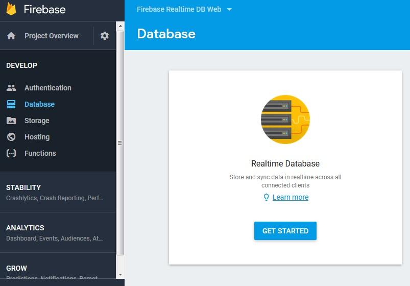 config firebase datase realtime