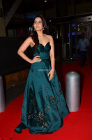 Raashi Khanna in Dark Green Sleeveless Strapless Deep neck Gown at 64th Jio Filmfare Awards South ~  Exclusive 038.JPG