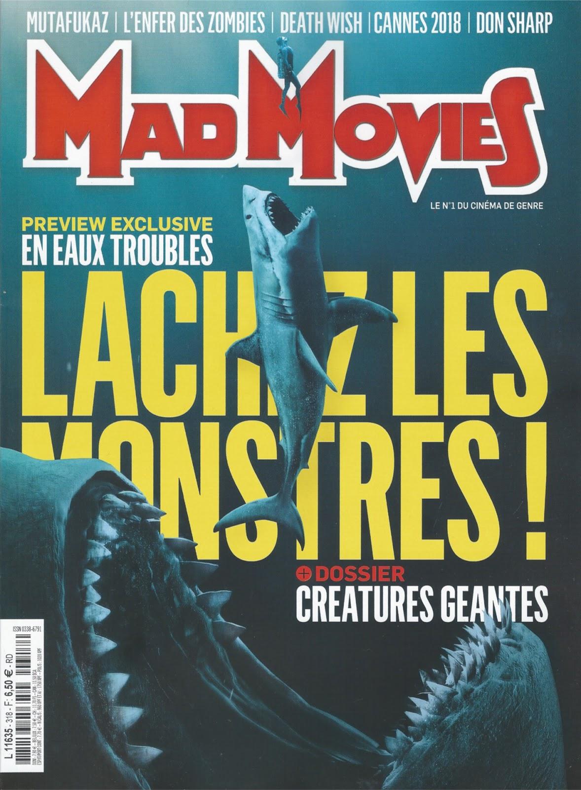 Le Festival MEME PAS PEUR dans le Mad Movies du mois de mai 2018