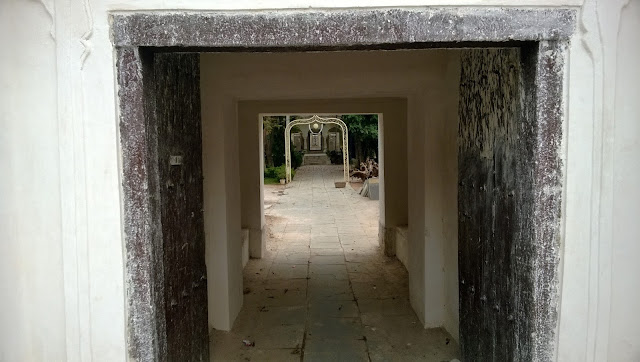 A closer view of the entrance gate of the paigah family tombs in hyderabad