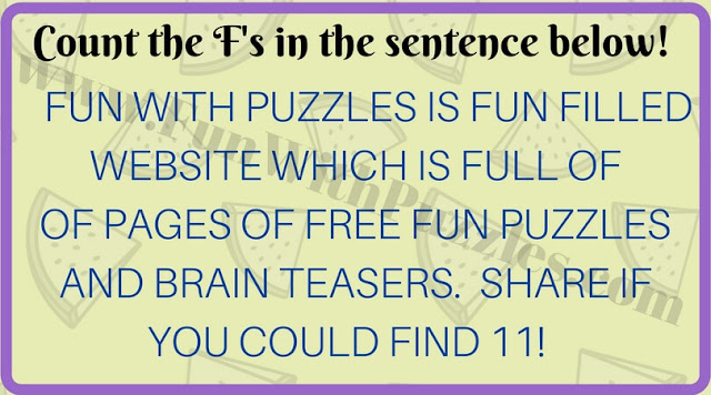 Count number of Fs picture puzzle