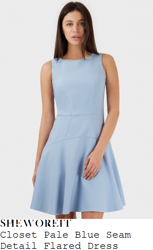 holly-willoughby-closet-pale-baby-blue-sleeveless-seam-detail-flared-skater-dress