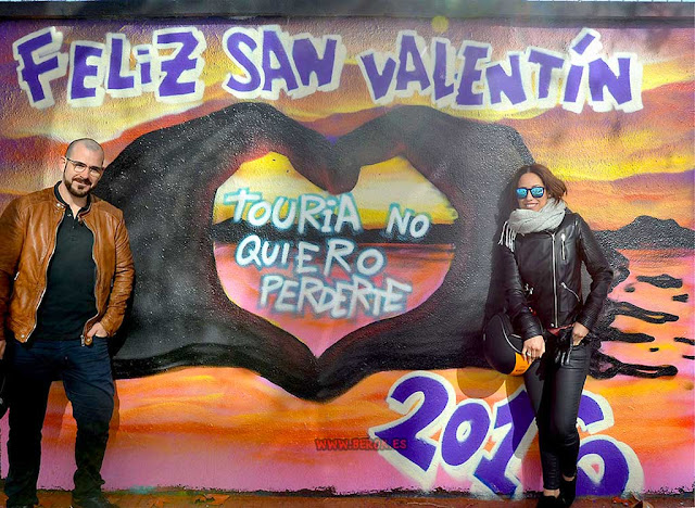 Arte urbano para San Valentín