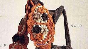 3 modelos de bolsos tejidos al crochet - con patrones