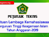 Juknis Bantuan Lembaga Kemahasiswaan PTKI Tahun Anggaran 2019