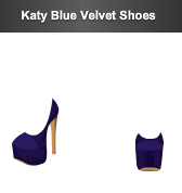 stardoll katy blue shoes