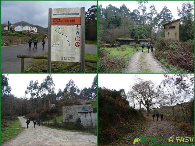 Ruta al Pico Gobia y La Forquita: subiendo a la carretera del Fitu