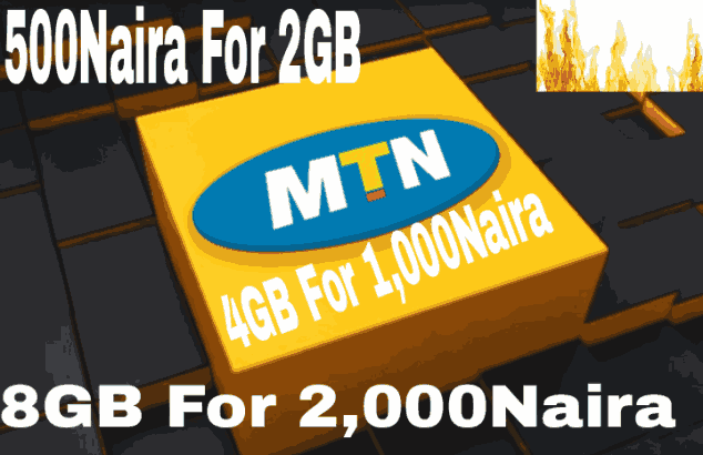 Valid IMEI For MTN 2GB For 500 Naira, 4GB For #1000 Double Data