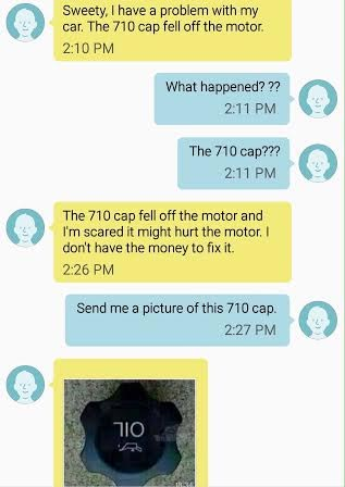 Check out this chat between a female driver and her husband