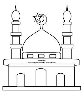 Gambar Sketsa Mewarnai Masjid Terbaru 201715