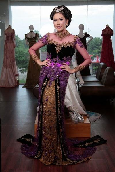 Kebaya Modern Purple - International Kebaya Batik Modern