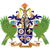 Logo Gambar Lambang Simbol Negara Saint Lucia PNG JPG ukuran 100 px