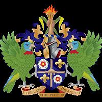 Logo Gambar Lambang Simbol Negara Saint Lucia PNG JPG ukuran 200 px