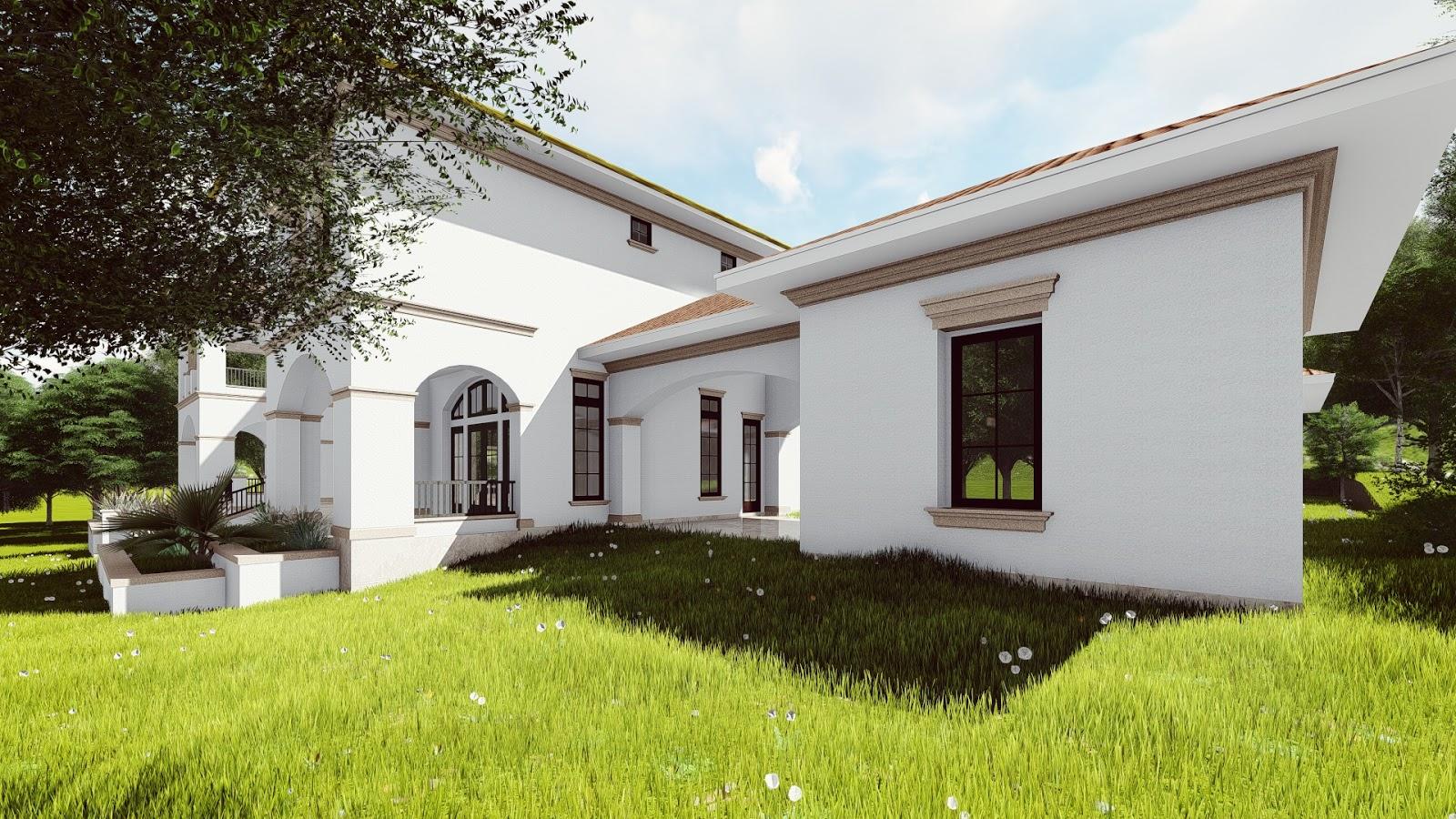 Projeto de Casa no Campo. #93A02B 1600x900 Bancada Banheiro Revit