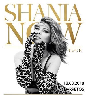 Barretos 2018 - Shania Twain em sua turnê  Shania Now Tour - Show dia 18/08/2018 (Sábado) no Parque do Peão na Festa do Peão de Barretos-SP  - Garanta já o seu na Rockabellas Tour