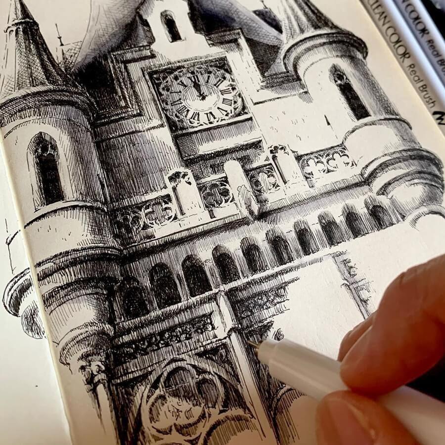 08-Schloss-Grafenegg-Castle-Vienna-Drawings-Rihiko-www-designstack-co