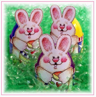 Retro Bunnies: Easter Egg Wrappers.