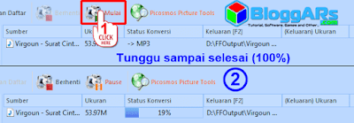 Proses Ubah Video ke MP3