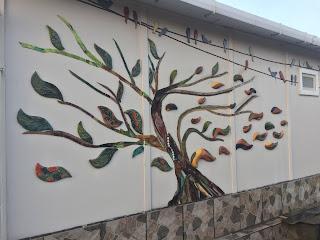 Hayat Ağacı, Mozaik ve seramik