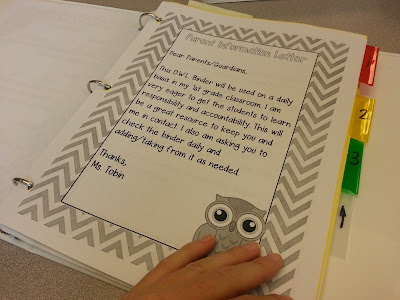 classroom organization- stude OWL binders (organized while learning)