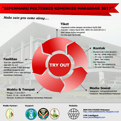 Jelang Uji Tulis SIPENMARU 2017, BEM POLTEKKES Makassar Akan Gelar Try Out