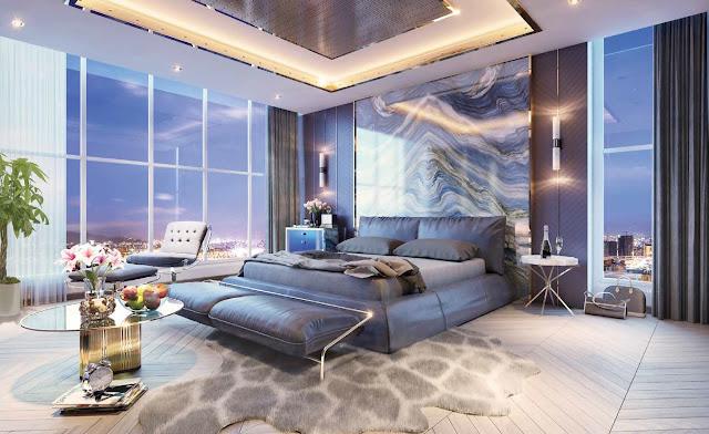 Phòng ngủ Penthouse Sky Villa Vinhomes Skylake