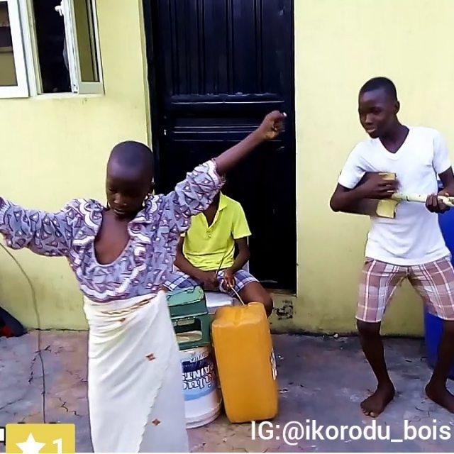 Image result for ans React As Davido Meets Ikorodu Bois Who Often Mimic Him