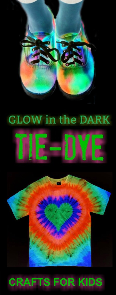 Tons of glow-in-the-dark tie dye ideas for kids!!  These are so cool!