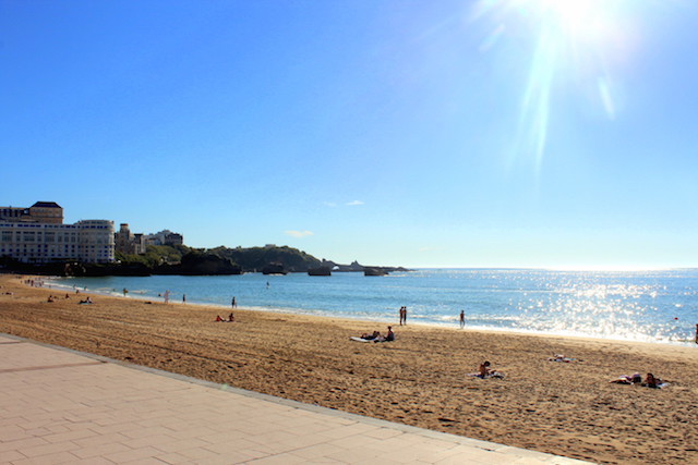 The main beach in Biarritz