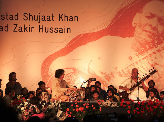 Ustaad Vilayat Khan Music Foundation hosted the Musical Evening With Shujaat Khan & Zakir Hussian