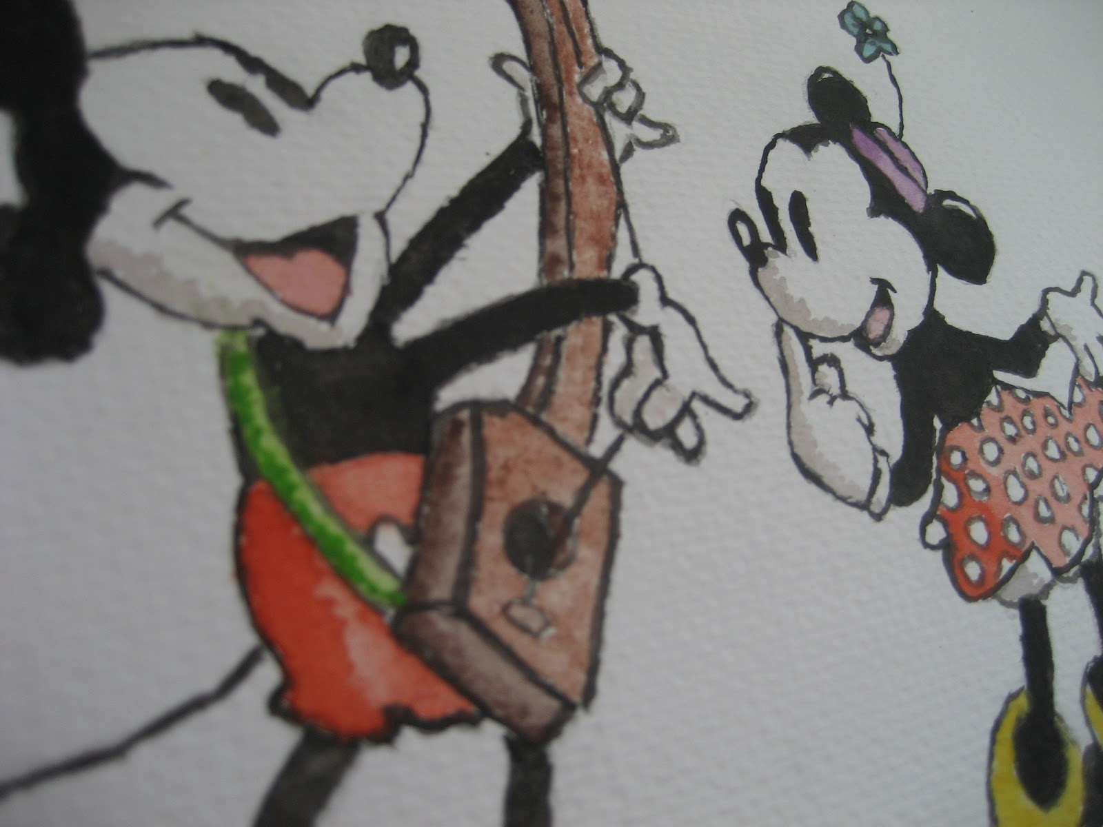 Mickey Y Minnie Los Dibujos De Jose Angel Barbado