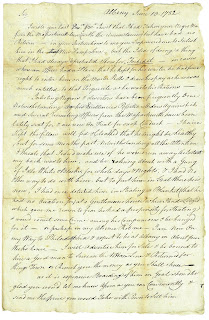 Letter; Blanchard to Bartlett; June 13, 1782; first page