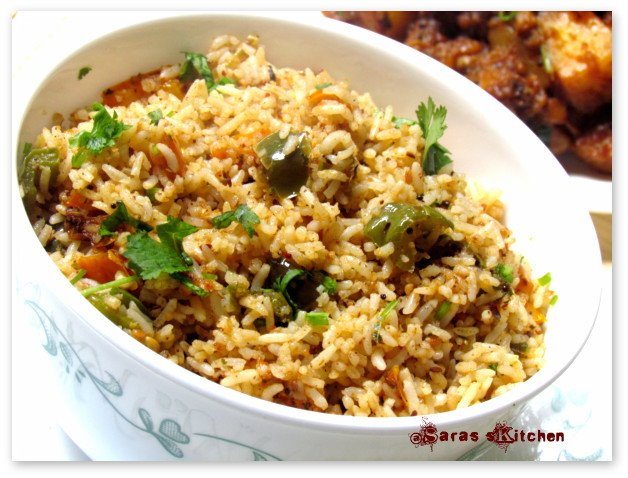 Capsicum Rice For Blog Hop Wednesday