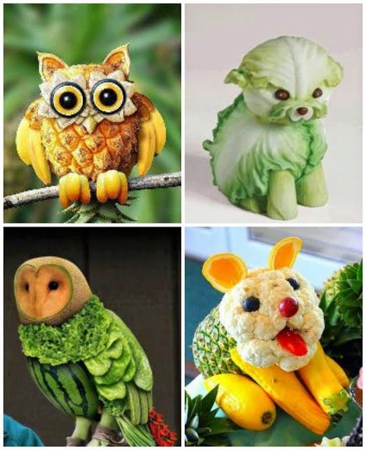 Eu Amo Artesanato: Esculturas De Legumes E Frutas
