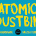 Atomic Dustbin : Free Handmade Brush Font