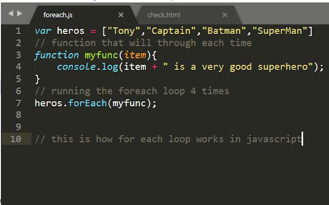 Js Foreach Loop